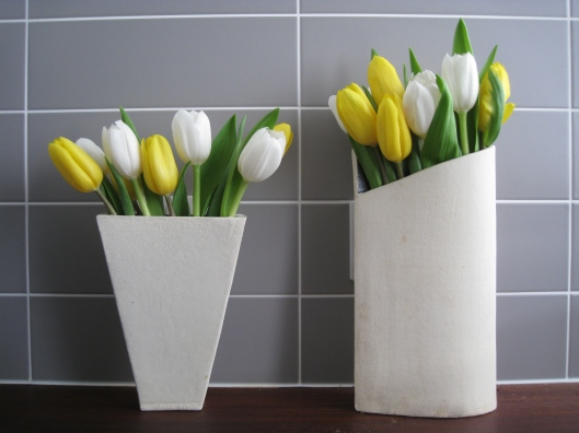 Judith Glover, Two vases and tulips, 2014, photo by Carol Clarke